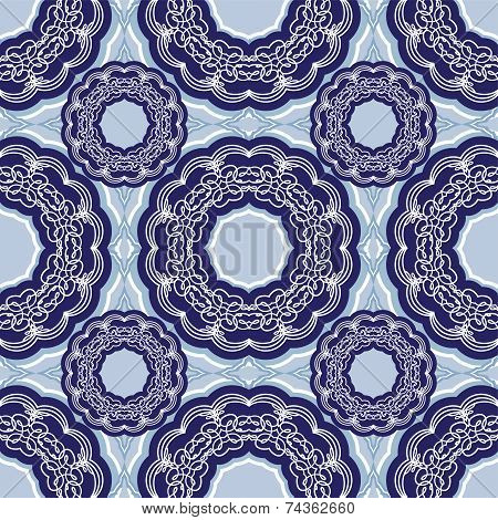 Squared Background - Ornamental Seamless Pattern. Design For Bandanna, Carpet, Shawl, Pillow Or Cush