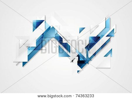 Bright hi-tech geometry background. Vector design