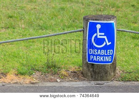 Disabled Parking Sign For Persons With Disabilities, For Providing Close Access The Entrance.