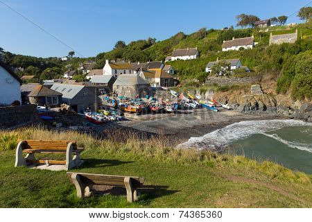 Cadgwith Cornwall England UK on the Lizard Peninsula between The Lizard and Coverack