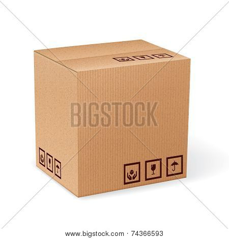 Carton box isolated