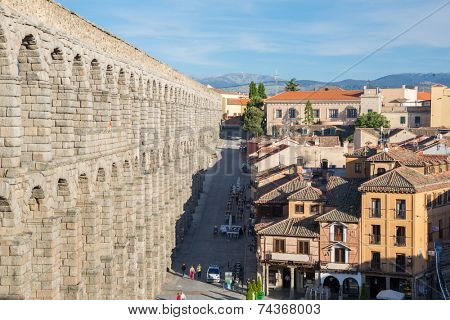 ancient aqueduct in Segovia Spain