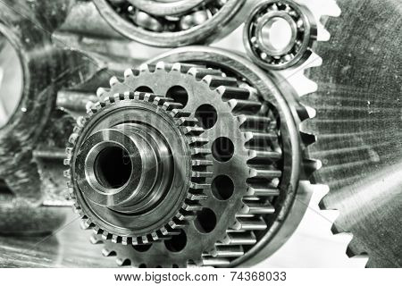 cogwheels, gears and bearings, titanium and steel engineering