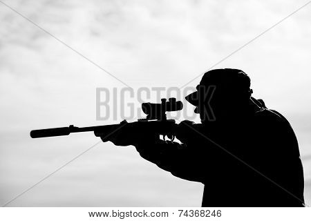 Man with rifle