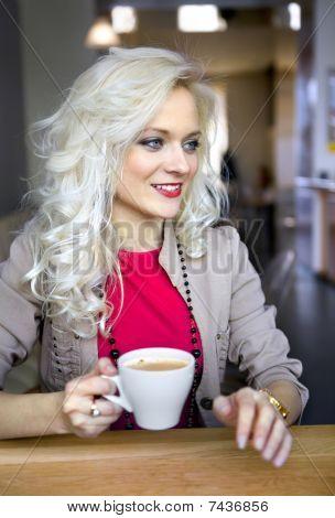 Blonde In Cafeteria