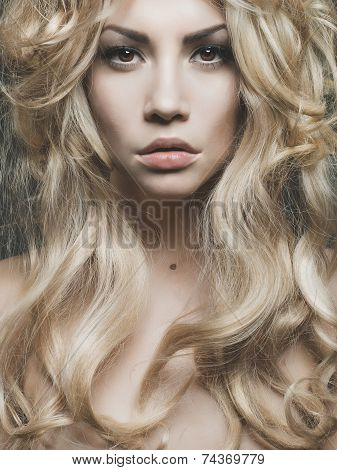 Beautiful Blond Woman Portrait
