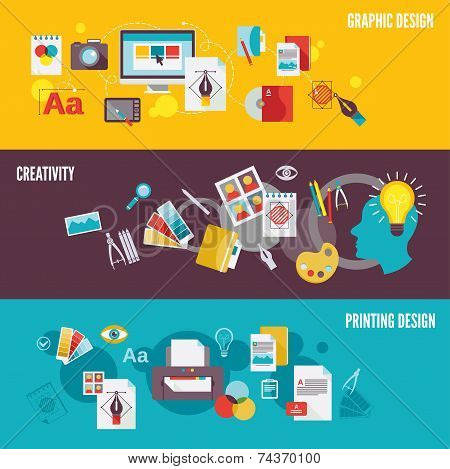 Graphic design banner set