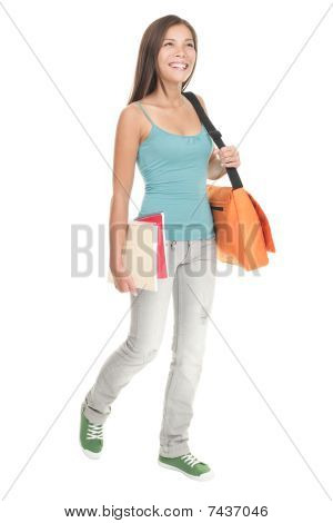 Female Student Walking