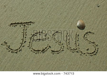 Sand Writings - Jesus