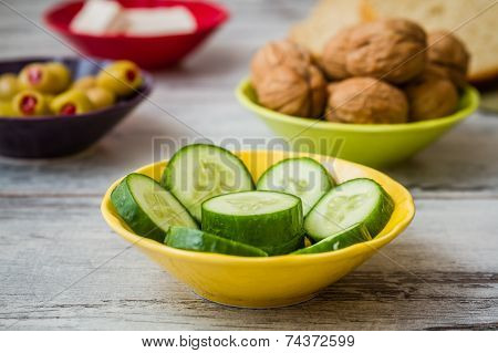 Healthy Breakfast With Cucumber