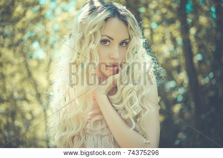 Outdoor Portrait Of Young Pretty Woman
