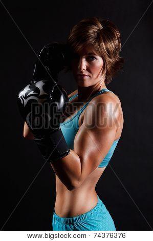 Portrait Of A Boxer Woman