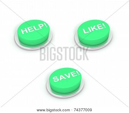 Help, Like And Save Buttons