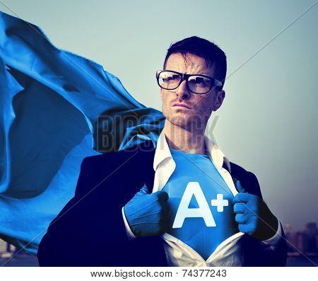 Strong Superhero Businessman Grade A plus Concepts