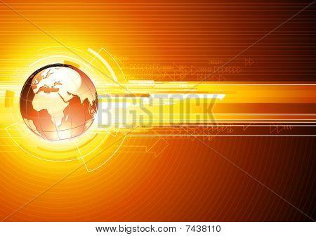 abstrakt hallo-Tech-Hintergrund