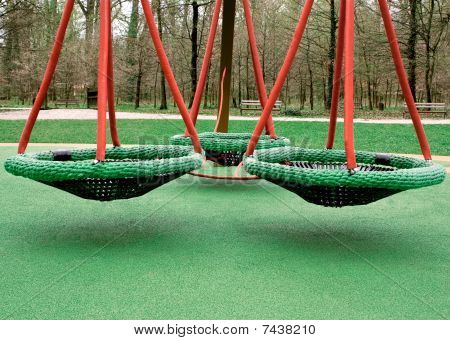 Three Green Swings