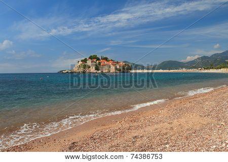 Sea Surf Close Up, Island Of Sveti Stefan, Montenegro