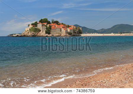 Respectable Resort Of Sveti Stefan Island In Adriatic Sea