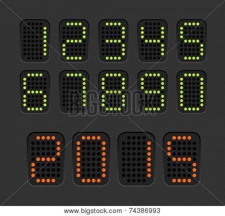 Counter with digits set. Flat design
