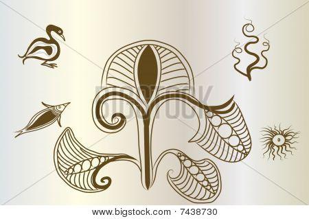 Minoan style flora Designs