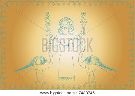 Minoan style goddess