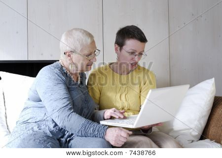 Senior Woman Learning Computers