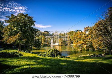Landscape Of Madrid: Crystal Palace In Retiro Park