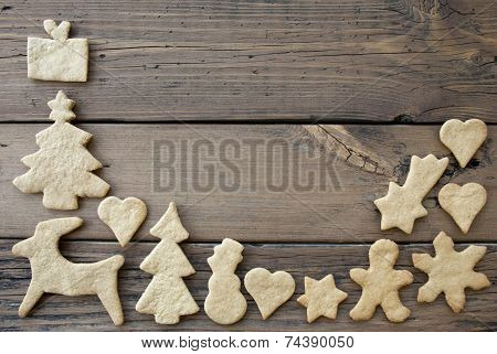 Ginger Bread Frame Background