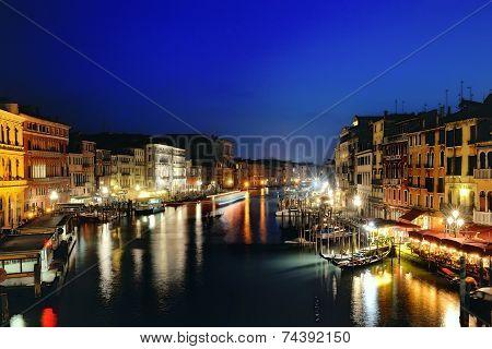 Venezia At Night, Venice, Italy