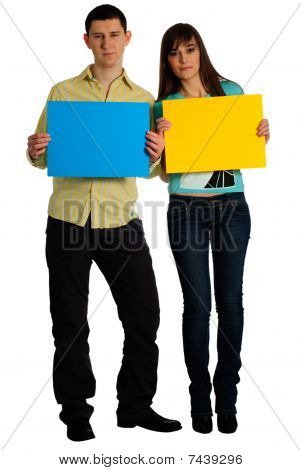 Couple Hold Cards