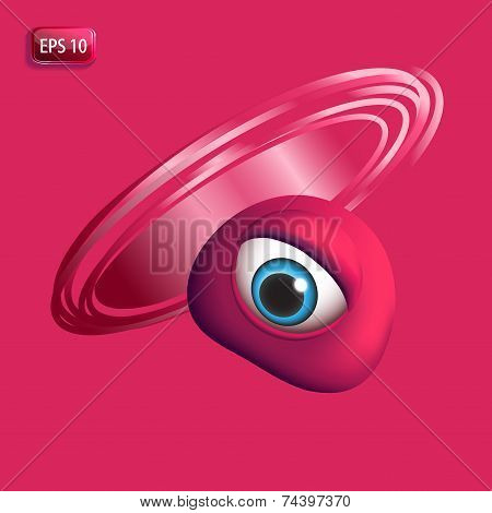 3D Monsters Eye - Red