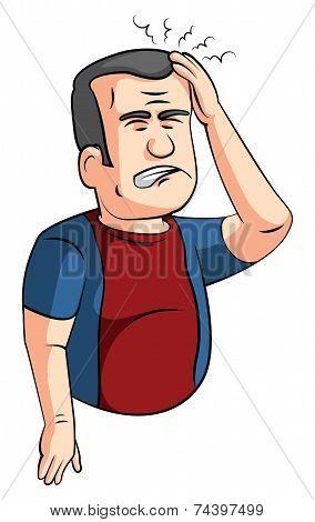 headache man
