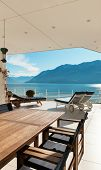 picture of penthouse  - beautiful terrace of a penthouse overlooking the lake - JPG