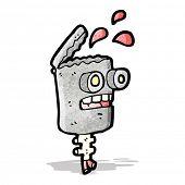 stock photo of grossed out  - gross robot head cartoon - JPG