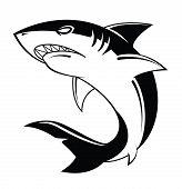 stock photo of manta ray  - Shark Vector Illustration Editable  - JPG