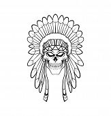 pic of apache  - Apache Head Editable Vector art and Illustration Design - JPG