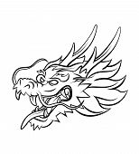 pic of dragon head  - Dragon Head Editable  - JPG