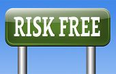 stock photo of risk  - risk free label or sign 100 - JPG