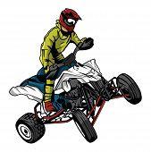 Постер, плакат: ATV moto rider