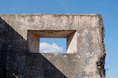 foto of sari  - window at pulo cemeti ruins taman sari water castle  - JPG