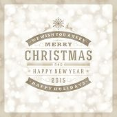 image of christmas greetings  - Christmas retro typography and light background - JPG