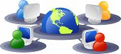 stock photo of internet icon  - Business and internet networking - JPG