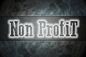 pic of non-profit  - Non Profit Concept text on background business idea - JPG