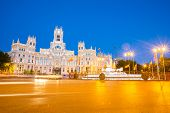 stock photo of old post office  - Plaza de la Cibeles  - JPG