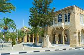 picture of larnaca  - The gates and surrounding wall of the Saint George Kontos monastery Larnaca Cyprus - JPG