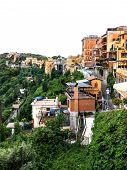 stock photo of apostolic  - Castel Gandolfo with Papal residence near Rome - JPG