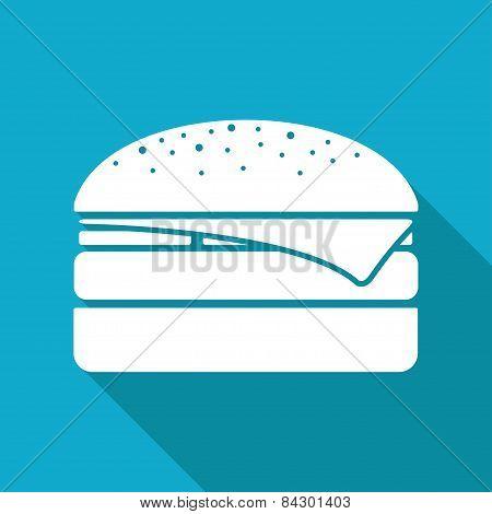 Vector Burger Icon. Eps10