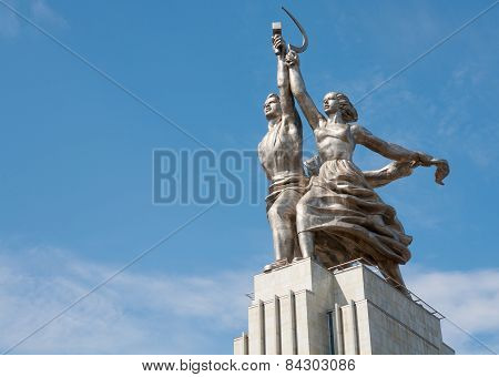 Worker And Kolkhoz Woman Sculpture