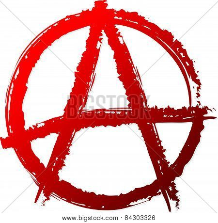 Anarchy Symbol Or Sign. Anarchy, Punk, Anarchism, Anarchist, Antisocial Vector Symbol.