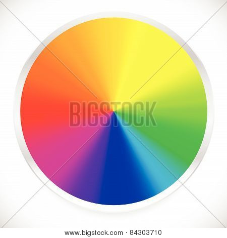Color Wheel, Circular, Circle Color Palette With Vibrant, Vivid Colors